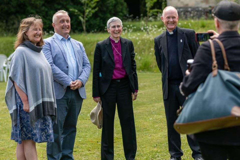 The new Bishop of Lynn mingles with guests in the Bishop's Garden (c) Diocese of Norwich
