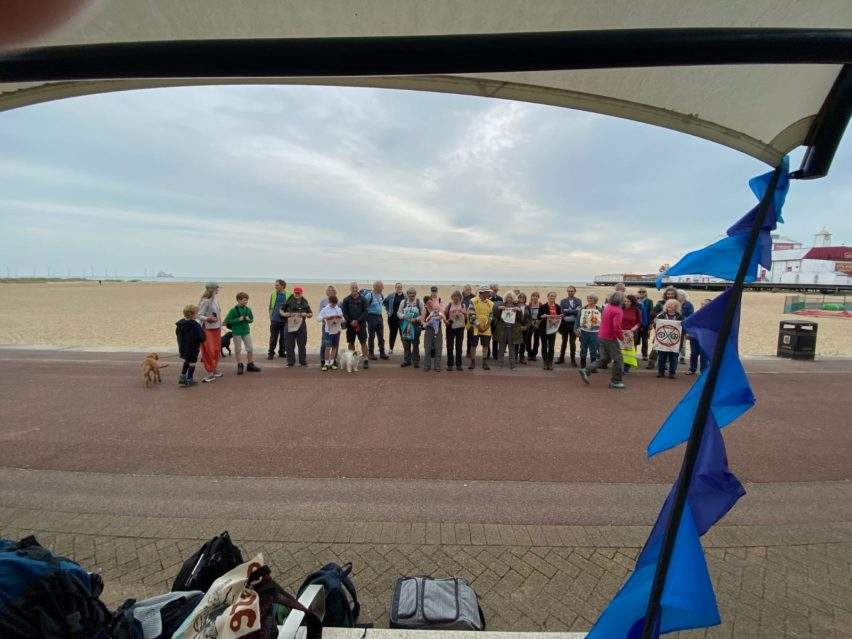 The pilgrims start their journey at Great Yarmouth